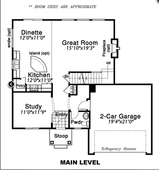 Sundance floor plan regency homes for Regency house plans